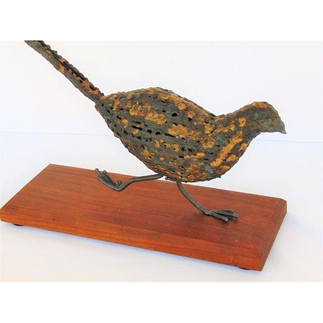 Mid-Century Brutalist Pheasant Sculpture - Image 5 of 5