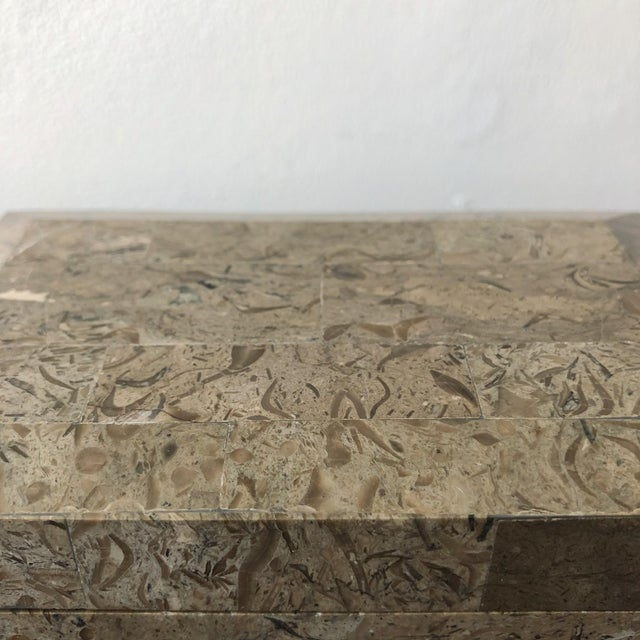 Stone 1980s Tessellated Marble Hinged Vintage Box For Sale - Image 7 of 9