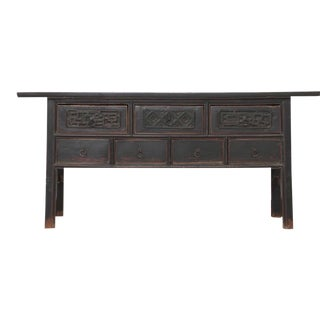 19th Century Chinese Seven-Drawer Console Table For Sale