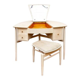 Mid-Century John Stuart Vanity Desk With Bench For Sale