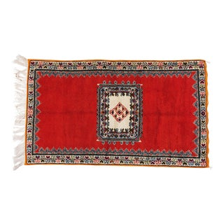 Berber Rug - Multicolor Handwoven Wool With All Natural Dye For Sale