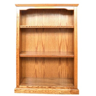 Vintage Mission Style Caramel Oak Bookcase For Sale