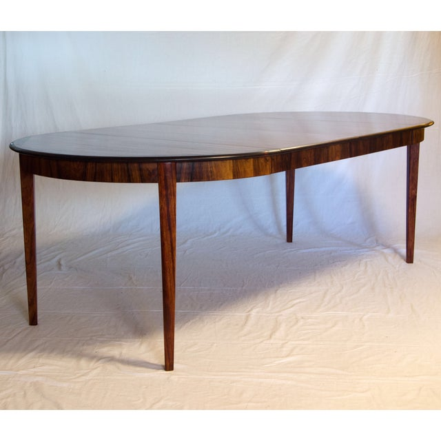 Danish Round Rosewood Dining Table by Moller - Image 7 of 7