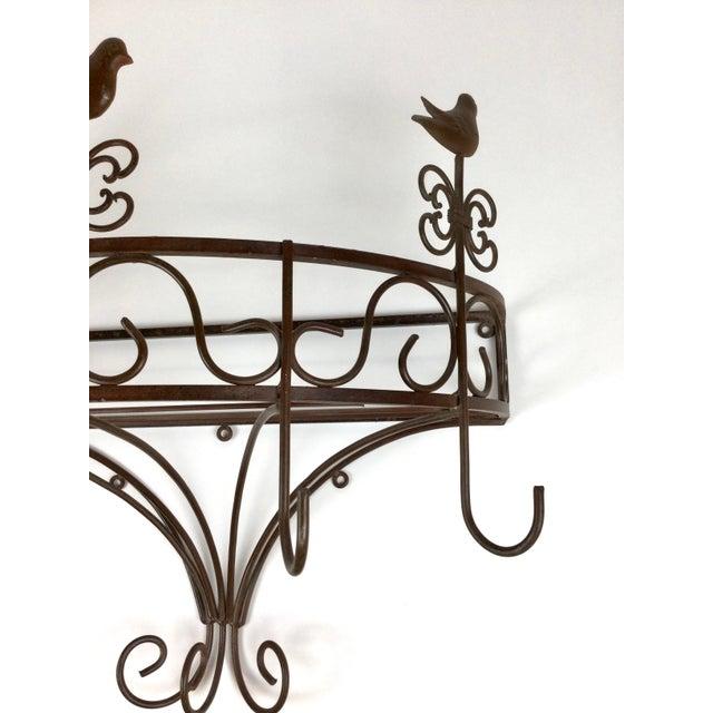 Vintage Steel Wall Pan Holder Shelf For Sale - Image 12 of 13