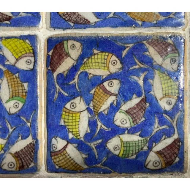 Vintage Persian Tile Side Table For Sale - Image 4 of 13