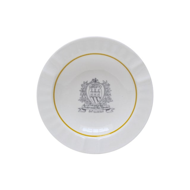 Ristorante San Marino Porcelain Ashtray - Image 1 of 6