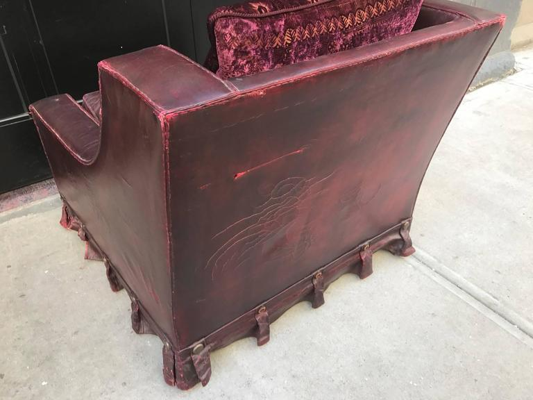 French Vintage Leather Lounge Chair   Image 7 Of 9