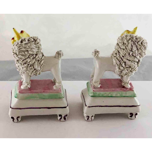 Figurative Late 19th Century Staffordshire Poodles Retrieving Birds - a Pair For Sale - Image 3 of 10