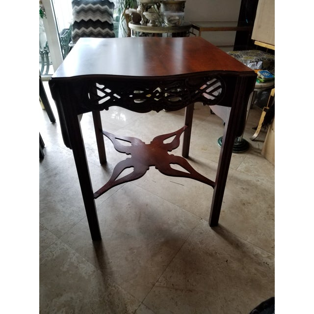 Baker Historic Collection Chippendale Tea Table - Image 4 of 7