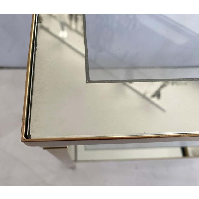 Mastercraft Style Brass Console Table For Sale - Image 10 of 13