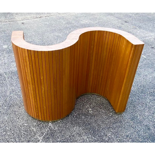 Mid-Century Modern Custom Mid-Century Curved Table Base For Sale - Image 3 of 9