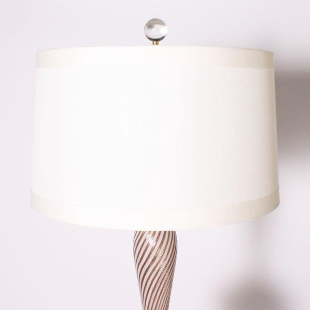 1950s Murano Latticino Lamp by Dino Martens For Sale In Dallas - Image 6 of 7