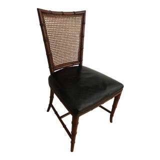 Karges Accent Side Chair Chinoiserie Hollywood Regency Style For Sale