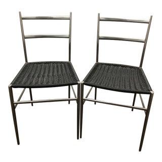 "1960s Gio Ponti Style ""Superleggera"" Chairs - a Pair For Sale"