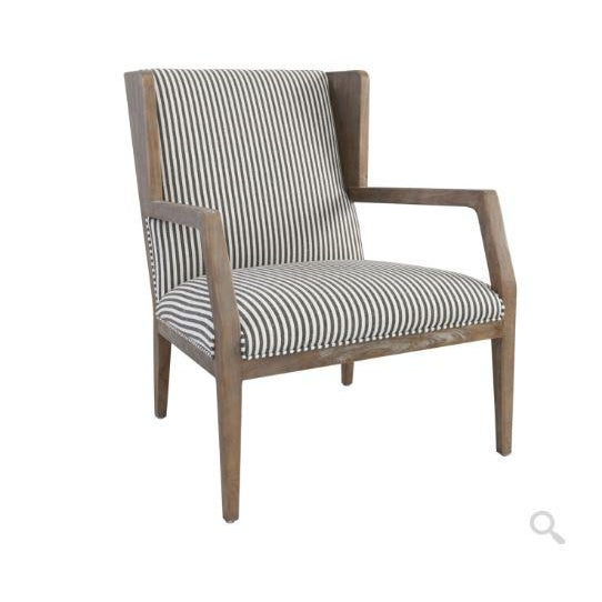 Tan Kenneth Ludwig York Striped Occassional Chair For Sale - Image 8 of 8