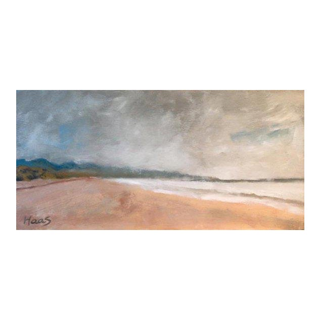 Rolling Fog Limantour Beach Point Reyes Seashore Painting For Sale