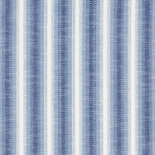 Schumacher Colada Stripe Indoor/Outdoor Fabric in Blue For Sale