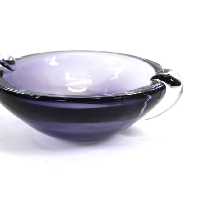 Kristaluxus Mid-Century Modern Glass Bowl For Sale In New York - Image 6 of 9