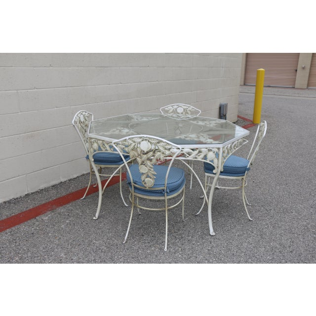 Metal Fruit Accent Patio Set - Set of 5 For Sale - Image 13 of 13