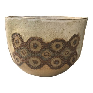 Vintage Large Mid Century Ceramic Studio Stoneware Planter For Sale