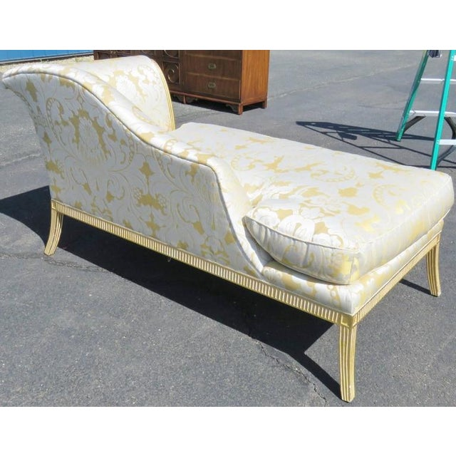 Regency Style Gilt Painted Recamier - Image 2 of 6