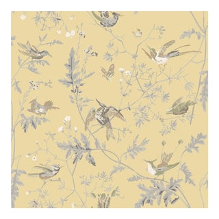 Gold Background Silk Fabric- Sample For Sale
