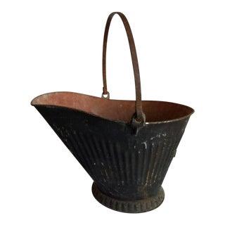 1930s Rustic Coal Scuttle Bucket For Sale