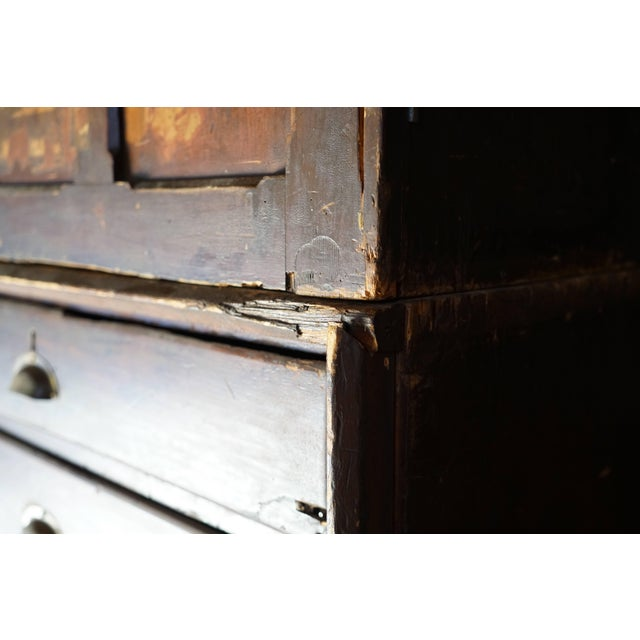 Rustic 19th Century Welsh Train Station Cabinet For Sale - Image 3 of 10
