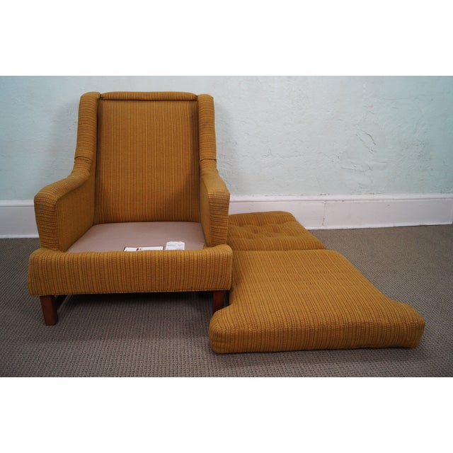Mid-Century Walnut Frame Lounge Chair And Ottoman - Image 6 of 10