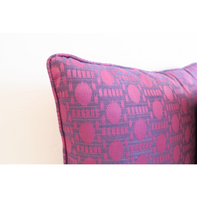 Custom Purple Pattern Pillows- a Pair For Sale - Image 4 of 5