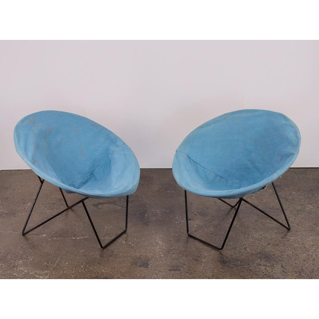 Outdoor Blue Hoop Chairs - A Pair For Sale - Image 10 of 10