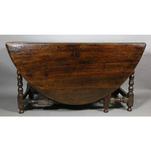 Large Jacobean Oak Gateleg Table For Sale In Boston - Image 6 of 11
