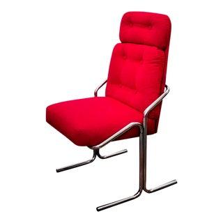 Douglas of California Chrome Tube Lounge Chair, 1970s For Sale
