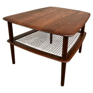 20th Century Scandinavian Modern Peter Hvidt and Orla Molgaard Nielsen Tiered Teak Side Table For Sale