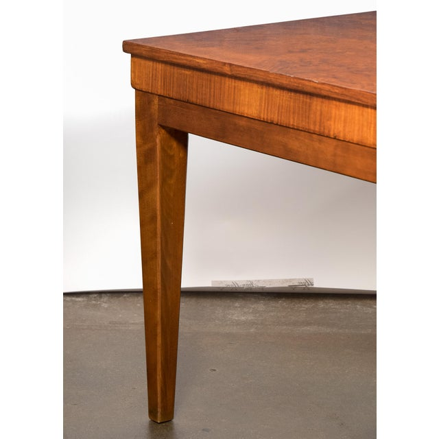 French Art Deco Burled Elm Table - Image 8 of 9