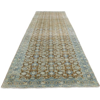 20th Century Antique Persian Tabriz Style Runner - 2′11″ × 10′9″ For Sale