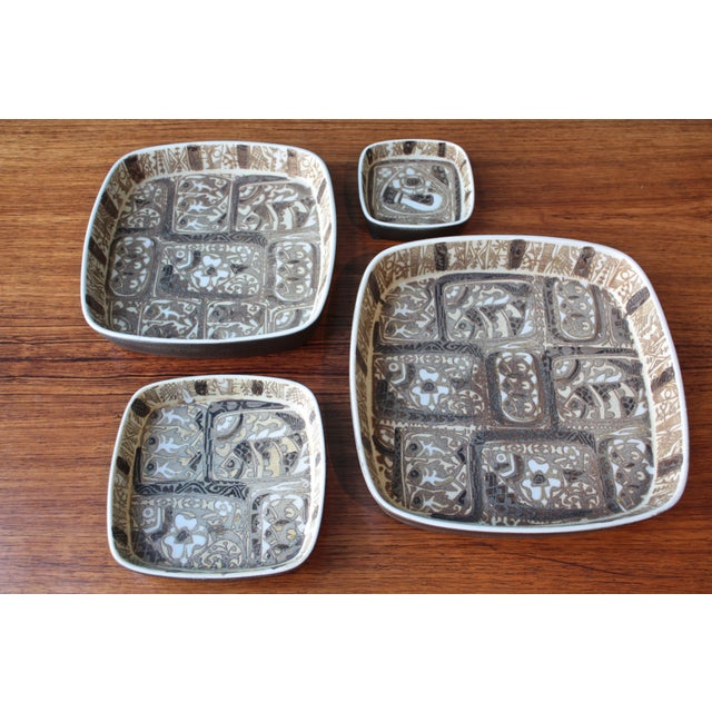 Vintage Baca Faience Plates Set by Nils Thorsson for Royal Copenhagen, 1960s For Sale - Image 10 of 10