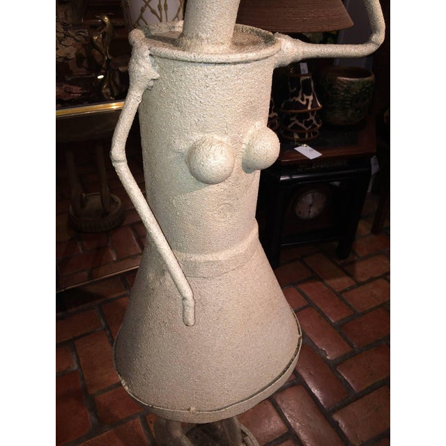 1960s Industrial Woman With Umbrella Sculpture For Sale - Image 5 of 11