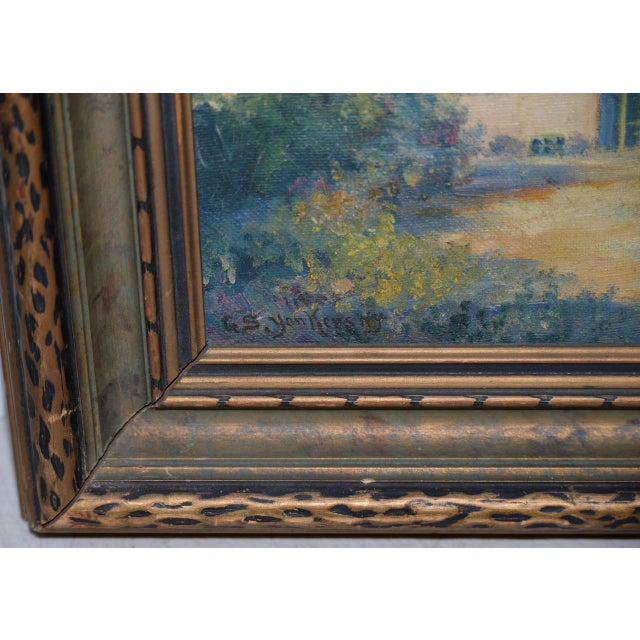 """George Gardner Symons (1863-1930) """"Yonkers, Ny"""" Original Oil Painting C.1890s For Sale - Image 4 of 7"""