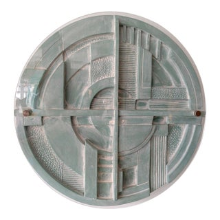 Art Deco Styled Machine Age Wall Sculpture For Sale