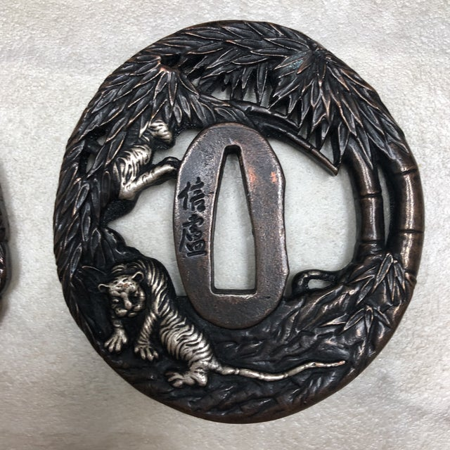 Vintage Japanese Tsuba's - Set of 6 For Sale - Image 4 of 12