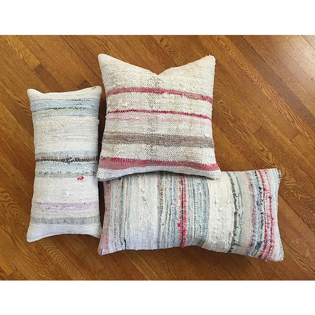 Moroccan Berber Striped Pillow Cover - Image 8 of 10