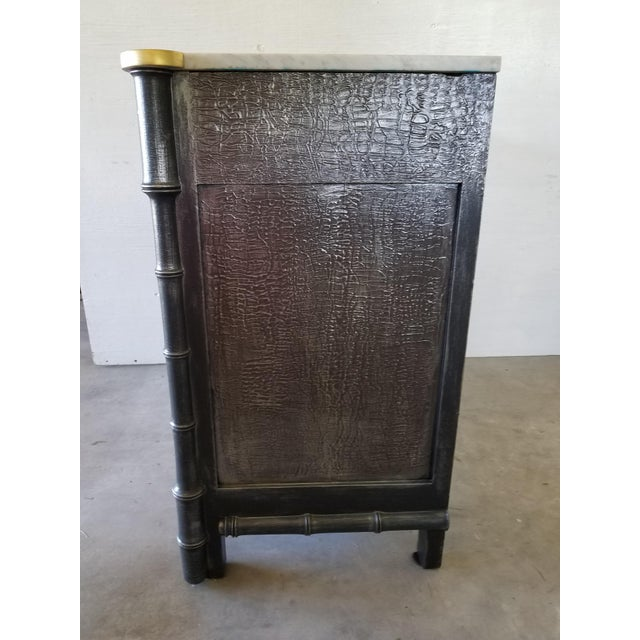 Vintage French Faux Bamboo Chest For Sale - Image 4 of 9
