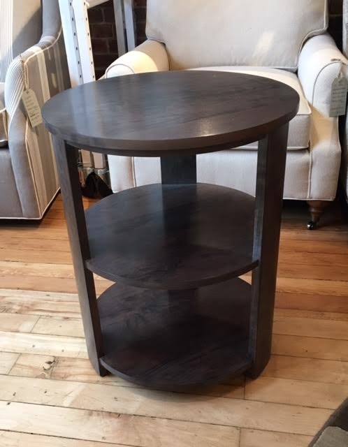 Contemporary Harden 2 Tiered Round End Table Showroom Sample For Sale    Image 3 Of 4