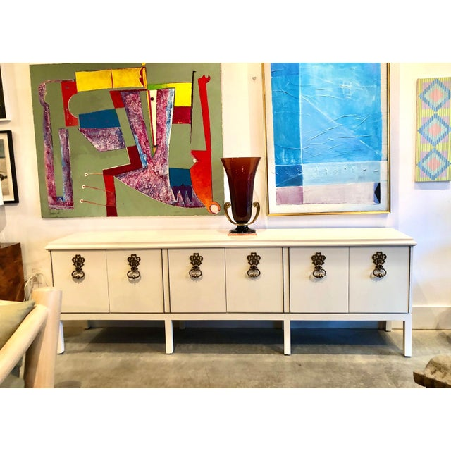 1970s Overscale Mastercraft Parzinger Style Credenza For Sale - Image 9 of 10