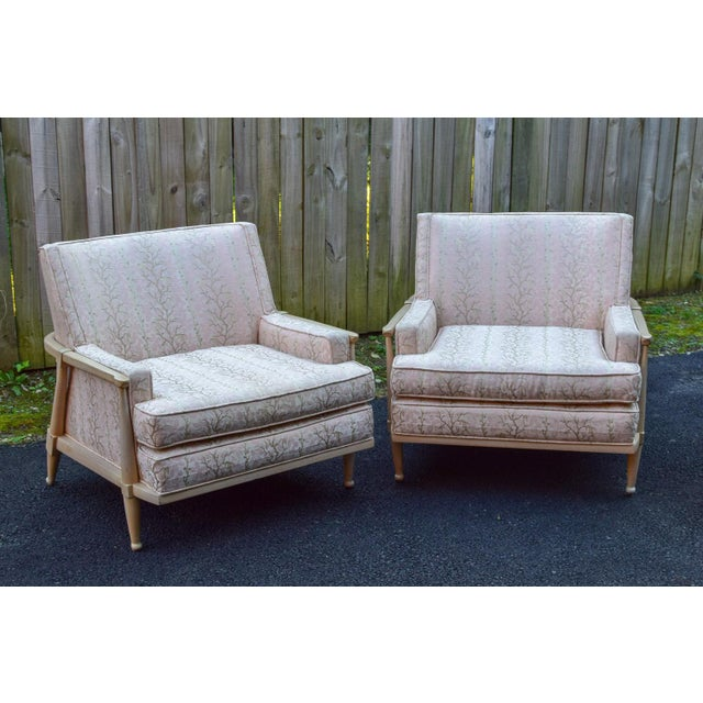 Vintage Mid Century Club Chairs- A Pair For Sale - Image 12 of 12