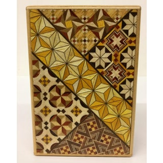 Japanese Inlaid Wood Secret Puzzle Box Preview