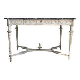 19th Century French Marble Top Table For Sale
