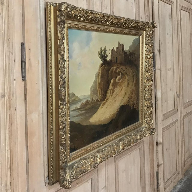 Realism Antique Framed Oil Painting on Canvas by Roelofs For Sale - Image 3 of 13
