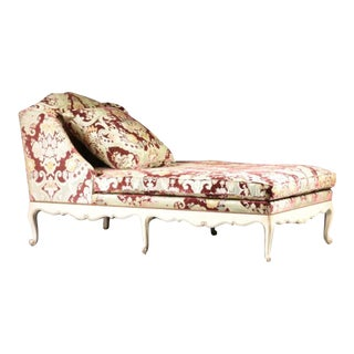 Velvet Chaise Lounge by John Widdicomb For Sale